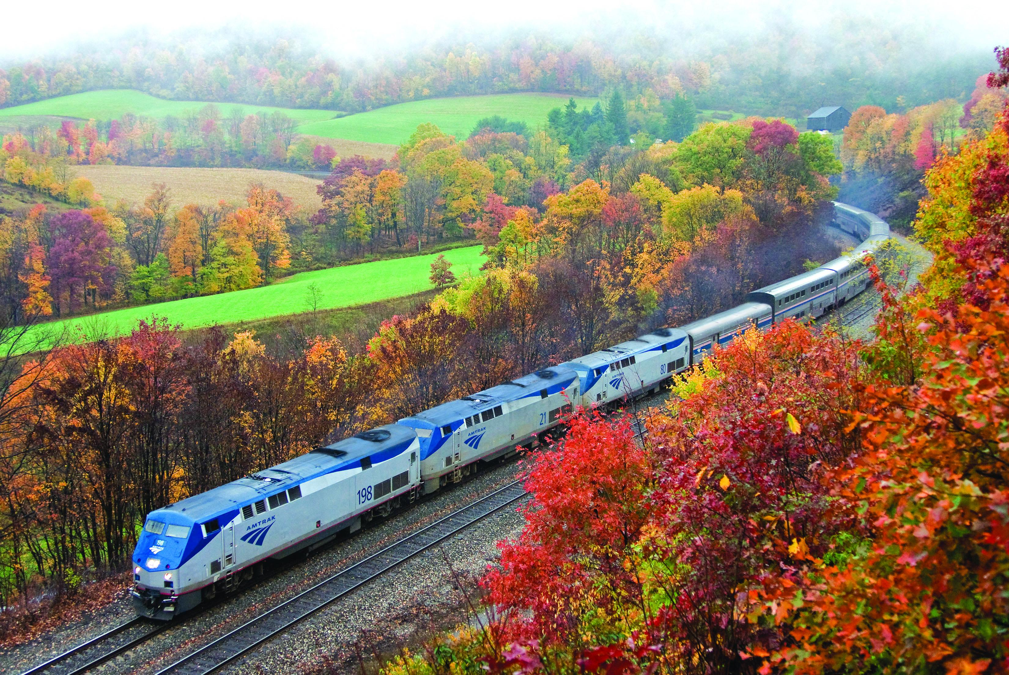 Amtrak makes for a scenic fall journey into portions of western Maryland and West Virginia.  (Image: Courtesy Amtrak)