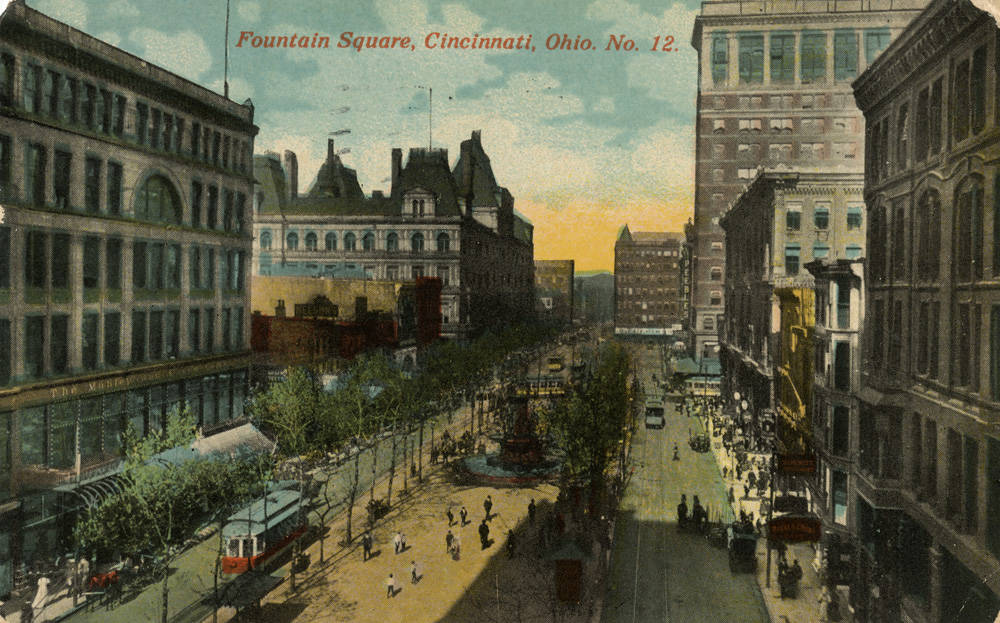 5th Street looking East from Vine / DATE: Pre-1936 / COLLECTION: Public Library of Cincinnati and Hamilton County, Clyde N. Bowden postcard collection / Image courtesy of the digital archive of The Public Library of Cincinnati and Hamilton County // Published: 4.4.18