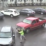Video shows road rage suspect hitting man with sledgehammer