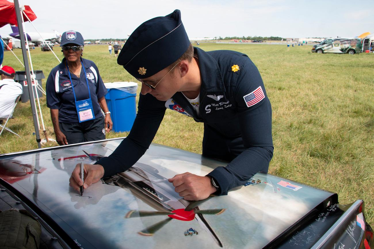 The Dayton Air Show took place June 22-23. The two-day event gave attendees a chance to get up close & personal with aircrafts, pilots, and see stunning aerial performances from the U.S. Air Force Thunderbirds and others. / Image: Dr. Richard Sanders // 6.24.18