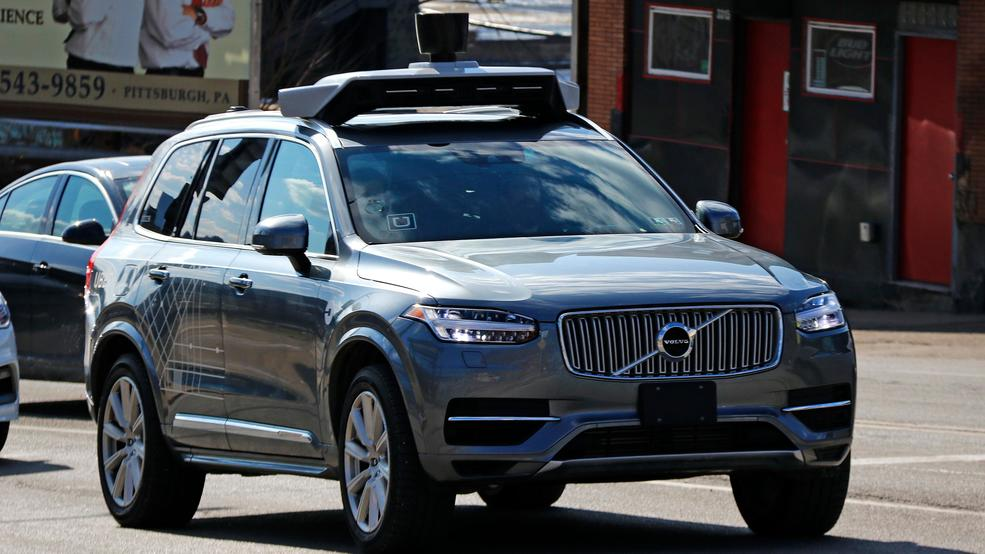 This March 17 2017 Photo Shows An Uber Self Driving Volvo In Pittsburgh The Pennsylvania Department Of Transportation Has Approved Ubers Request To