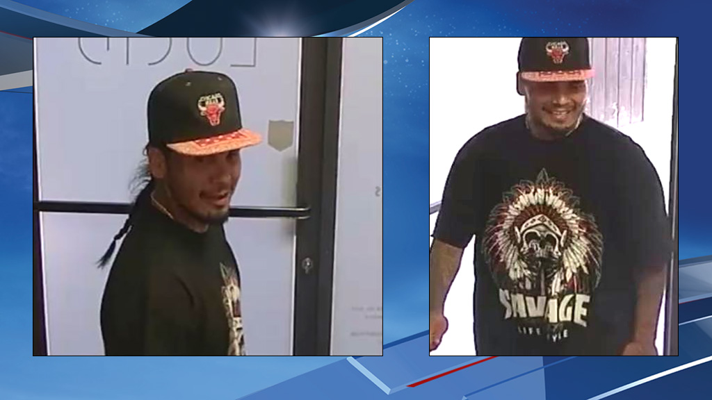 Surveillance photo shows the man allegedly involved in the kidnapping, later identified as Donovan Culps. (Photos from Cheney Police Dept.)
