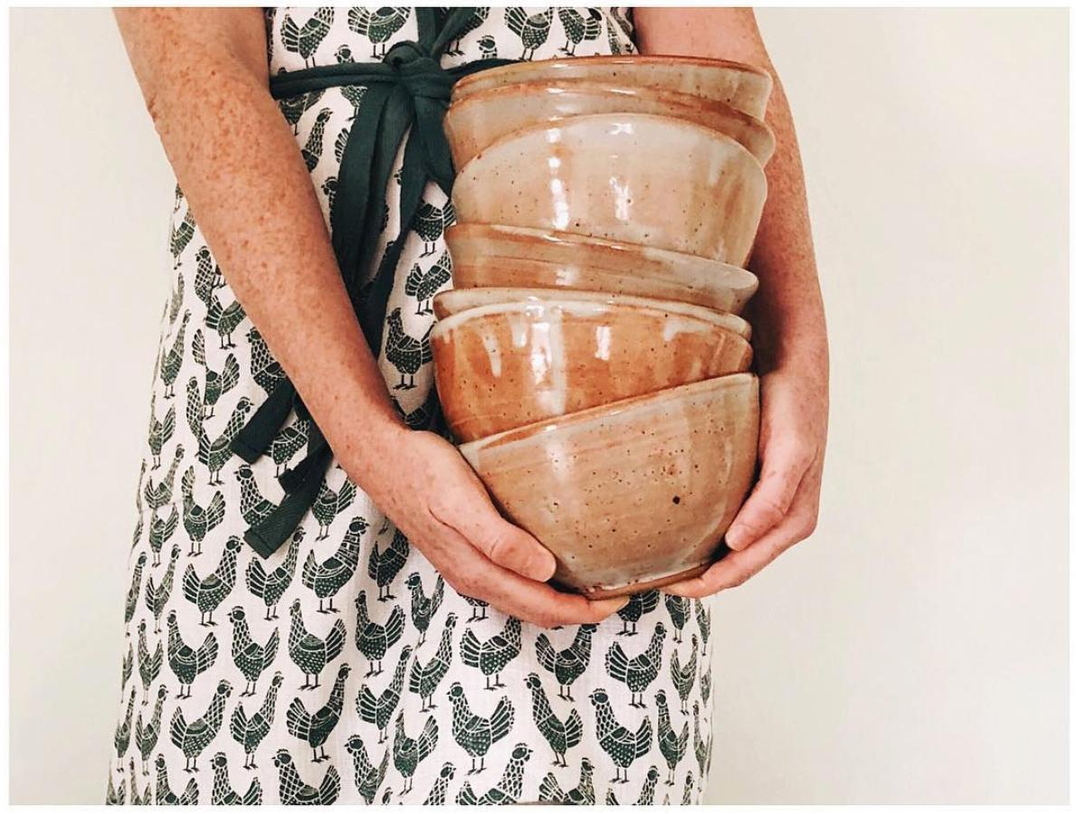 If you're looking for some local art to bring into your home, check out these sweet handmade bowls and other ceramics. (Image courtesy of @whimandvigor)