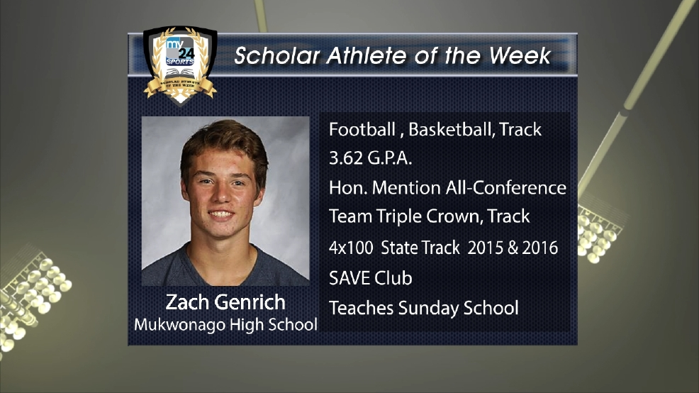 2016 Scholar Athlete: Zach Genrich