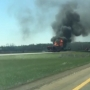 Semi fire shuts down northbound I-69