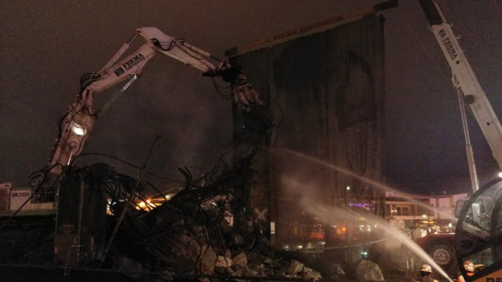 Viaduct's double decker section reduced to rubble, but demolition continues