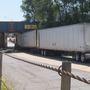 Semi gets stuck under Champaign overpass
