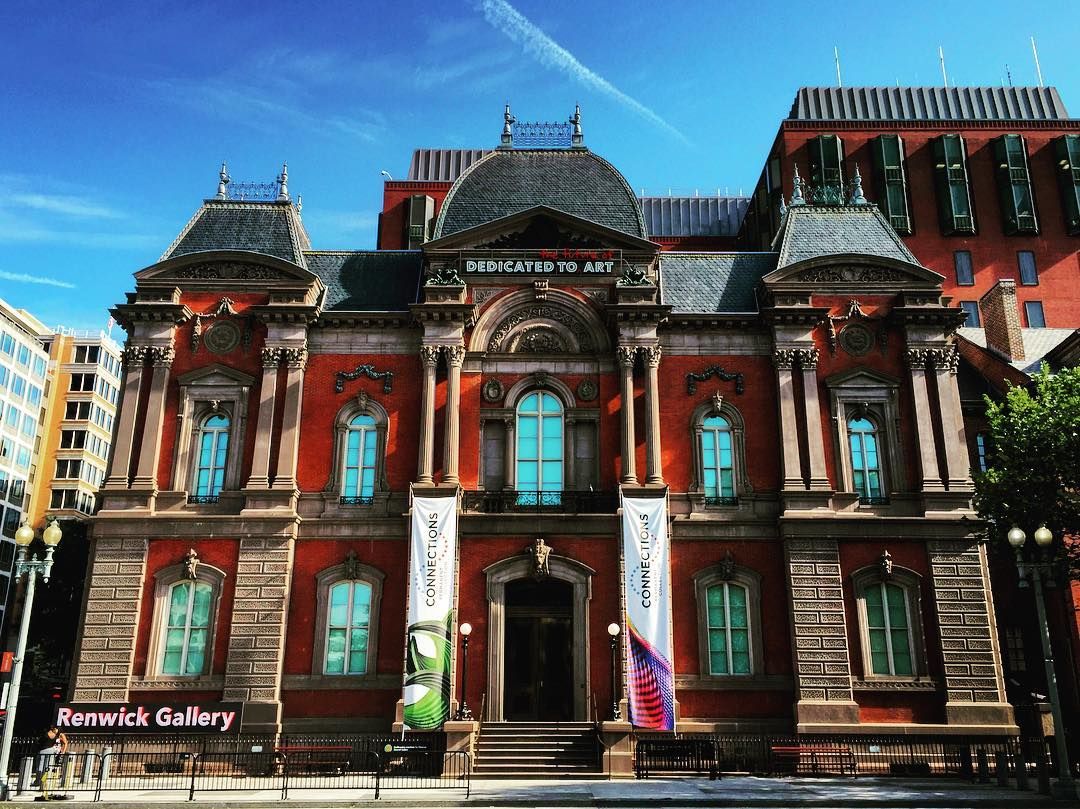"IMAGE: IG user @jawlinedanny1984 / POST: ""The Smithsonian's Renwick Gallery at 1661 Pennsylvania Ave. NW, Downtown, Washington, D.C. Built between 1859 and 1874 to house the Corcoran Gallery of Art, the building was seized by the government and used as military offices during the Civil War. …"" / MORE: Check out #MansardMonday by following IG user @archi_ologie"