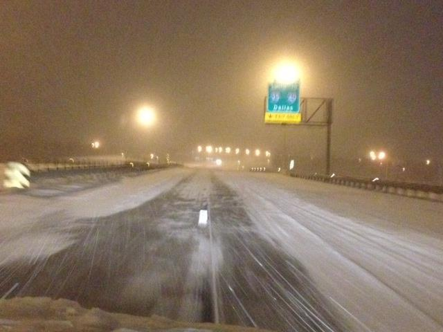 Friday morning, ODOT stressed that interstates were snow-packed and traffic was highly discouraged.