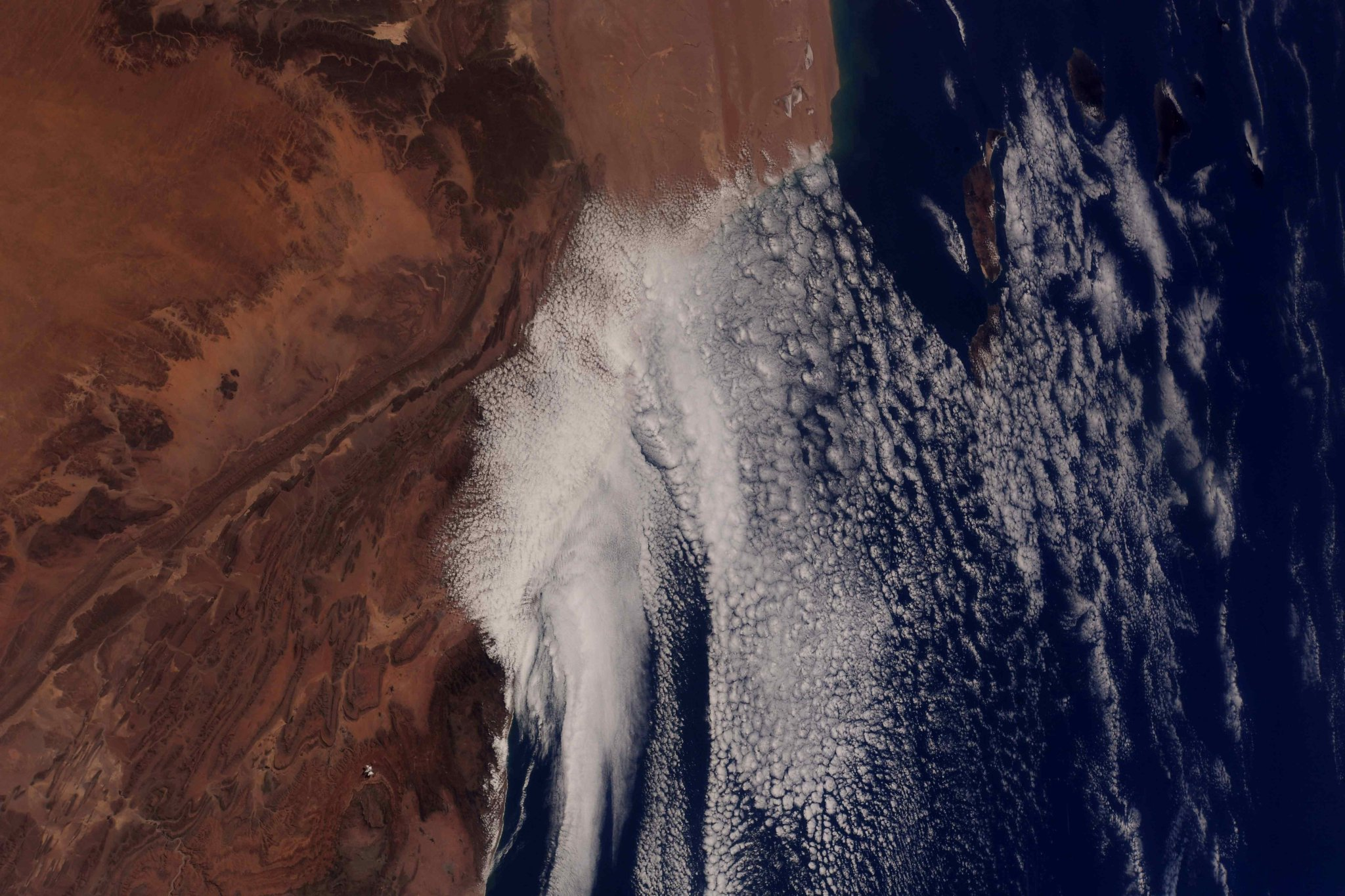 #Morocco & the Canary Islands. ?Then there is the sky, compared to which all other skies seem faint-hearted efforts.? -Paul Bowles on the Sahara (Photo & Caption: Ricky Arnold / NASA)