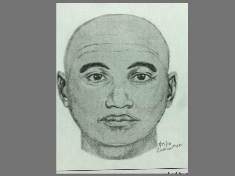 Sketch of man wanted for attempted attack of woman, who was is a deputy with the Loudoun County Sheriff's Office, who was off-duty when she was running on the Washington and Old Dominion Trail on Thursday, Aug. 25, 2016, according to police. (Leesburg Police).