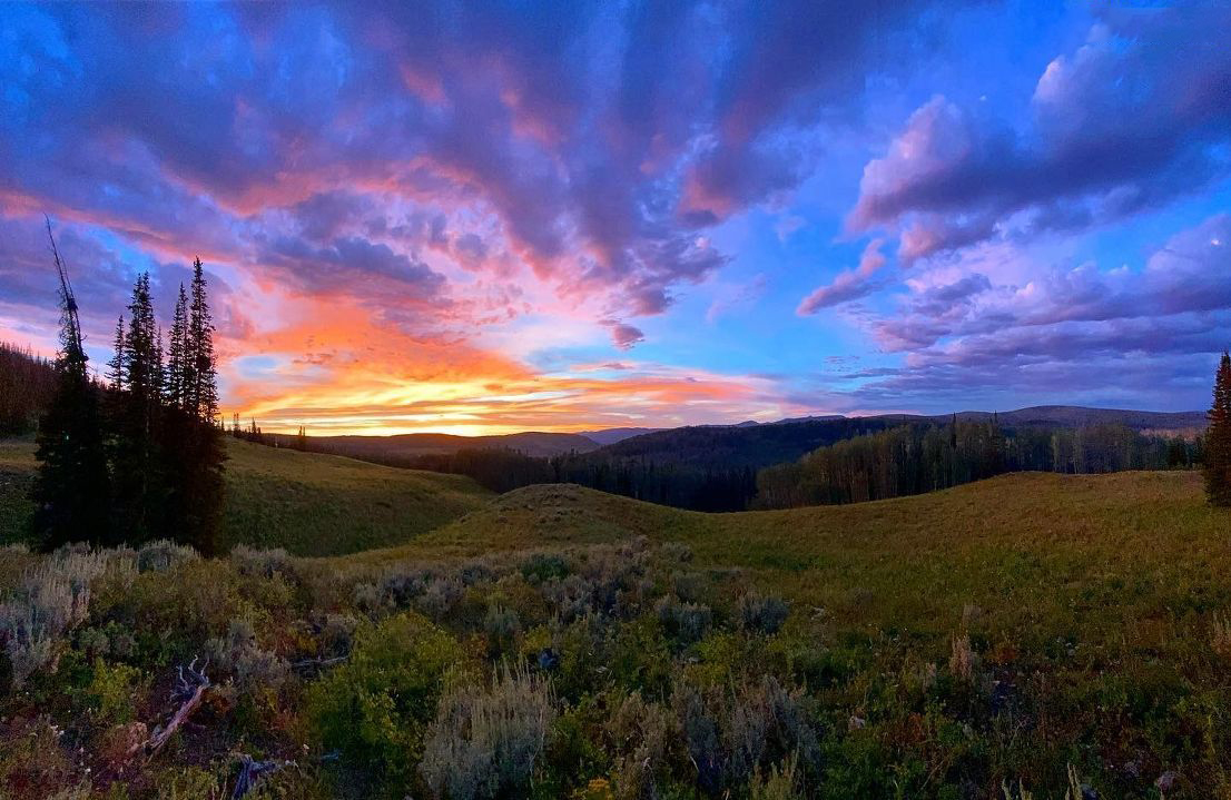 Sunset in the Uintas. (Dakotah A. Bitney)