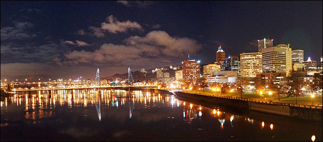 Downtown Portland at night (YouNews contributor BigMike58)