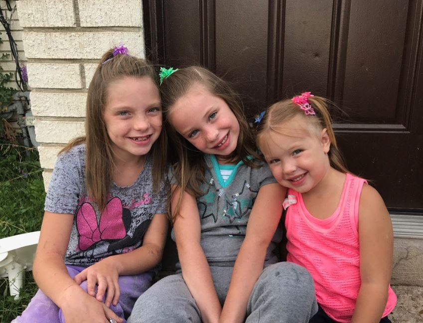 Evanston girls struck by lightning are back home(Photo: Chris Jones)