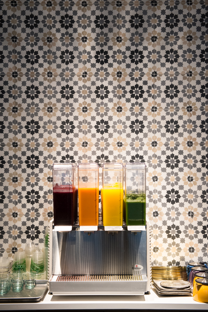 Anar's juice. From left to right;  anar, refresh, yellow no. 5, and green. (Image: anar)
