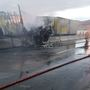Fiery crash closes I-90 bridge at Vantage