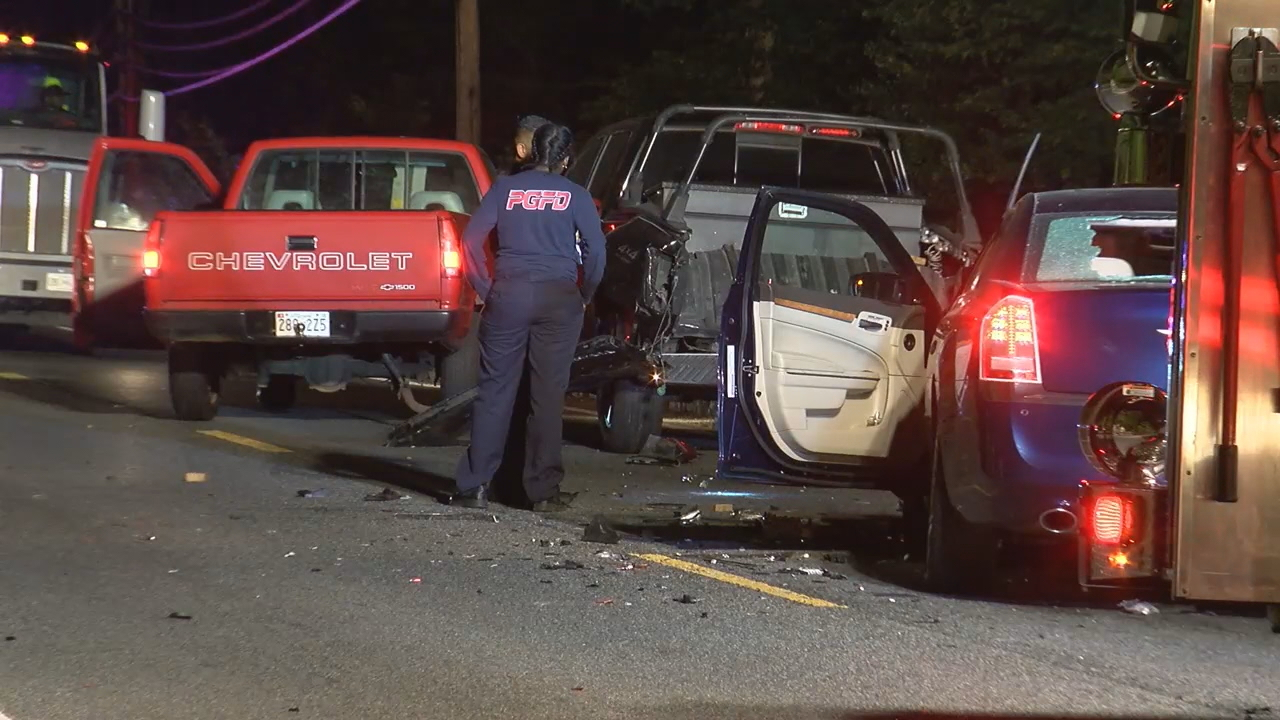 Two people are dead after a major crash in Prince George's County. (Photo, ABC7)