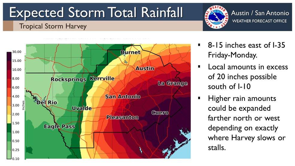 Tracking Harvey San Antonio Preparing For Severe Weekend