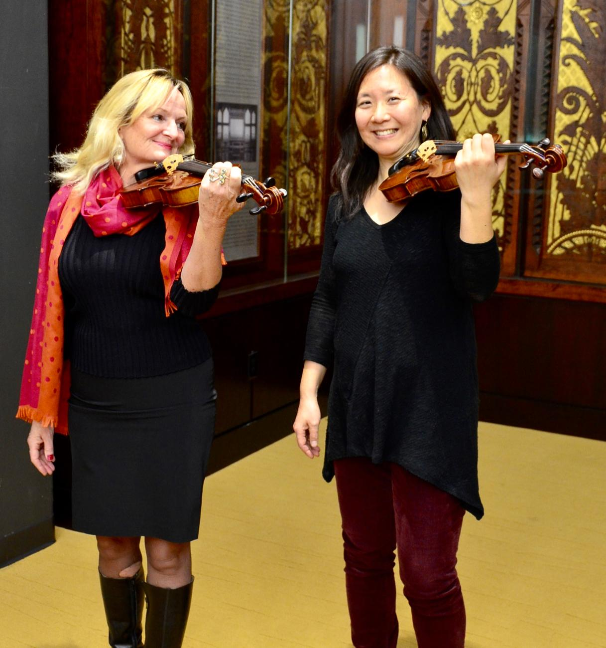 Heidi Yenney (Cincinnati Chamber Orchestra) and Sujean Kim (Cincinnati Chamber Orchestra) / Image: Leah Zipperstein, Cincinnati Refined // Published: 1.21.18