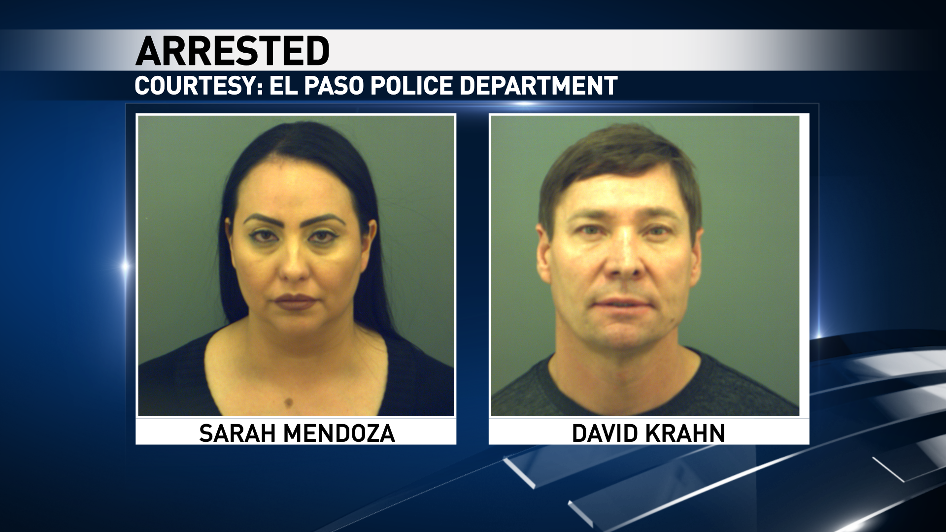 Sarah Mendoza and David Krahn were arrested for possession of cocaine.