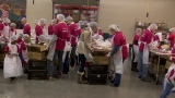 Volunteers help the Oregon Food Bank in honor of Dr. King