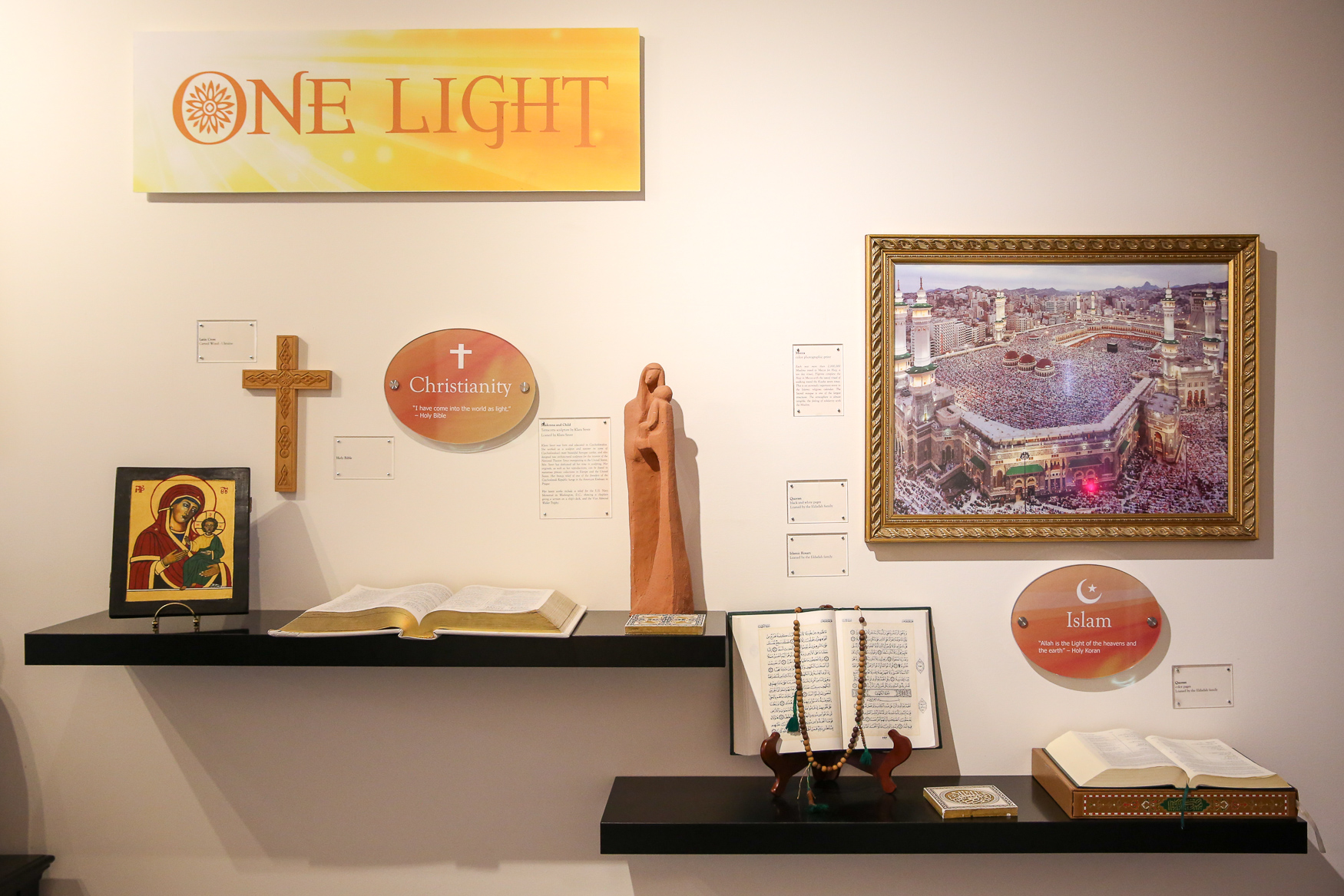 The exhibitions focus on what major religions have in common with{ }Brahma Kumaris, as well as the benefits of meditation.{ }(Amanda Andrade-Rhoades/DC Refined)
