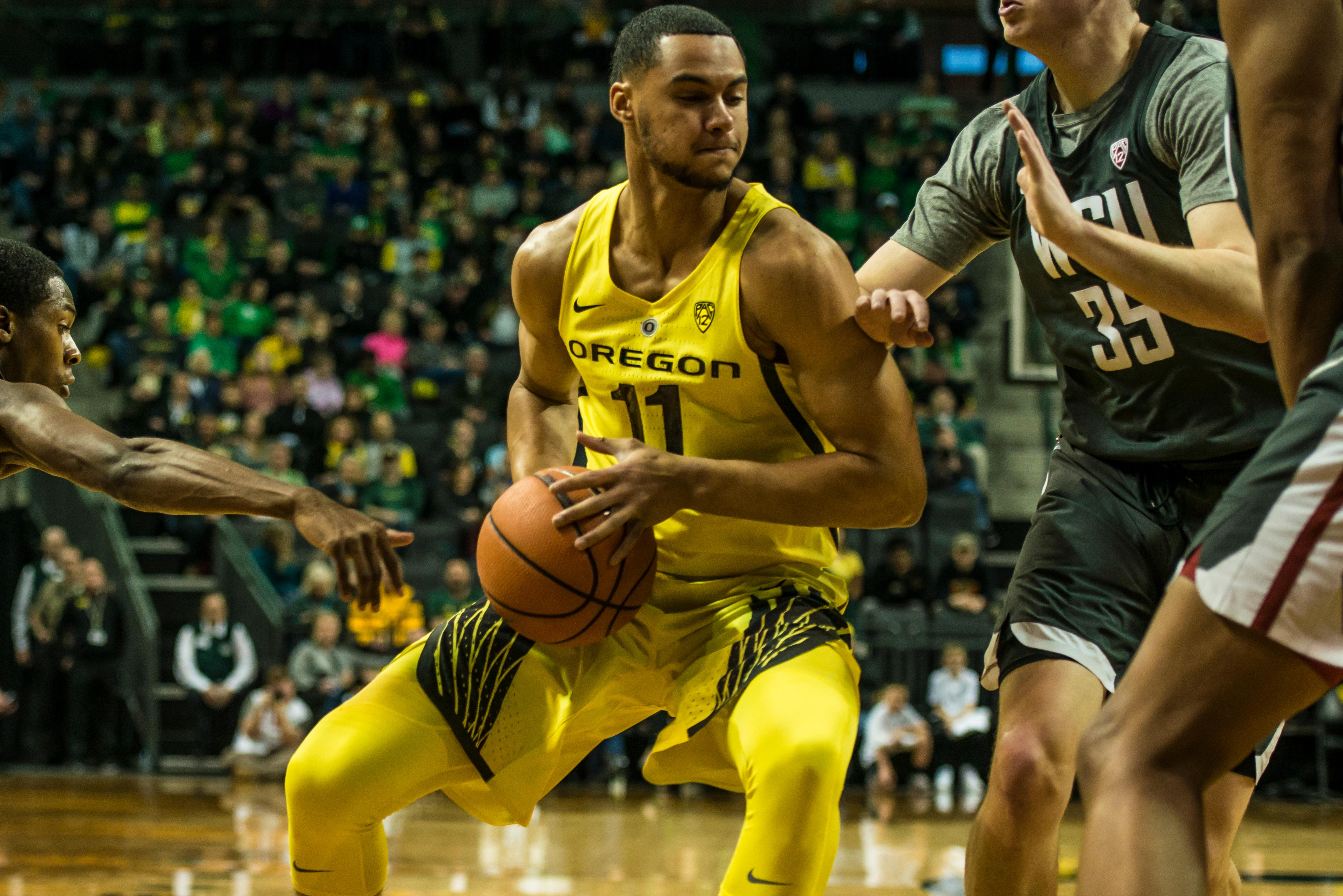 The Oregon Ducks took down the Washington State Cougars, 84-57, on Sunday, led by Payton Pritchard. (Photo Courtesy of Colin Houck).
