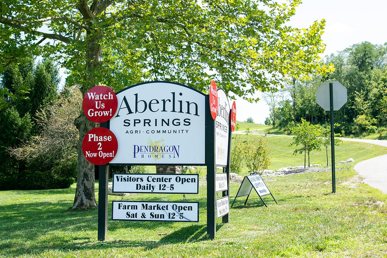 Aberlin Springs is the first farm-to-table living, or agrihood, in the Cincinnati area. The development offers an onsite CSA (community supported agriculture) program which provides residents with organic seasonal produce and pasture-raised meats. The farm started in 1990 by the Aberlins—a Swiss family wanting to bring a piece of Switzerland to Warren County. They designed the family village in a Swiss style with timber-framed architecture. Today, the Aberlin's share the beautiful 141 acres of rolling hills with their community. ADDRESS: 3470 Snook Road, Morrow OH (45152) / Image: Allison McAdams // Published: 8.19.19