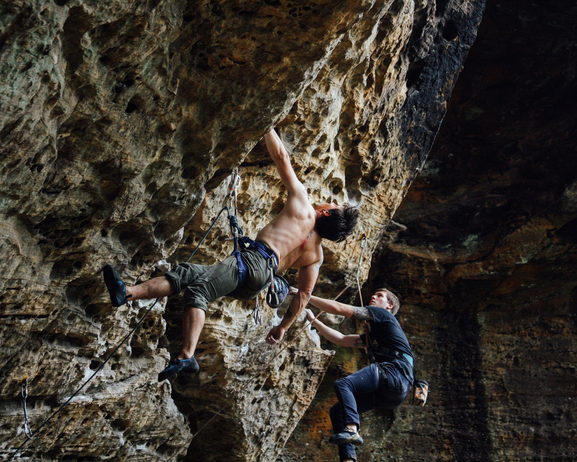 "Story: ""Discover The Wonder of Rock Climbing at Red River Gorge"" / Location: Bob Marley Crag, Pendergass Murray Recreational Preserve, Red River Gorge / Image: Gerry Seavo James"