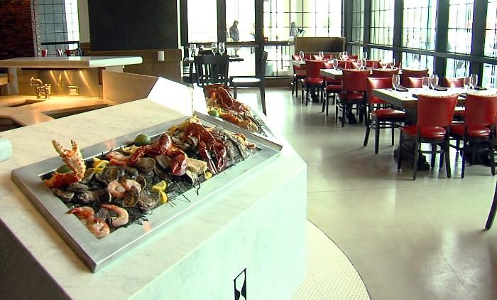 Inside the Todd English P.U.B. restaurant at the new Westin Hotel in downtown Birmingham, Alabama.