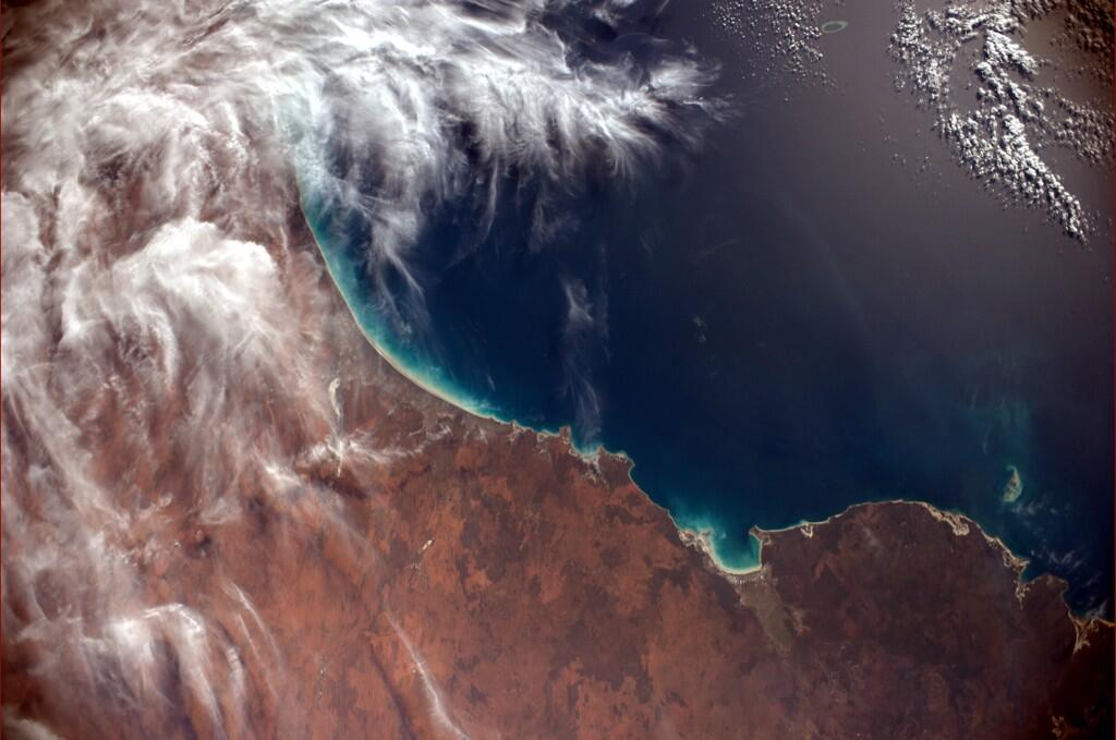 This will go in my living room.  Australia?s north shore (Photo & Caption: Reid Wiseman, NASA)
