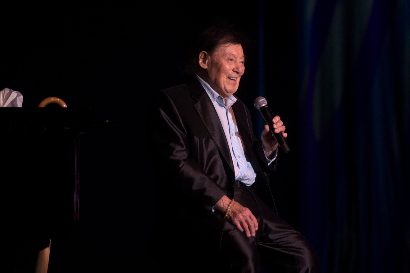 Comedian Marty Allen celebrates his 95th birthday with a show at the South Point Thursday, March 23, 2017. [Sam Morris/Las Vegas News Bureau]