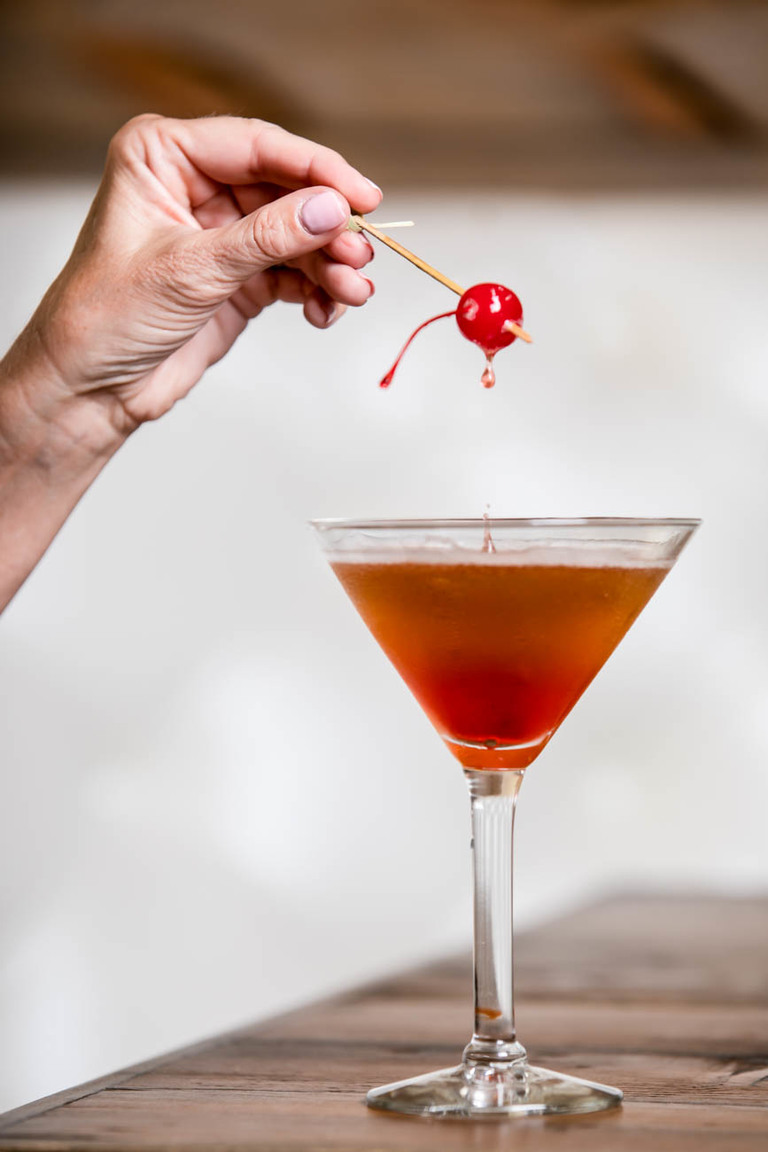 Blackbird Manhattan: whiskey, sweet vermouth, cherry juice, and bitters / Image: Amy Elisabeth Spasoff // Published: 5.22.18