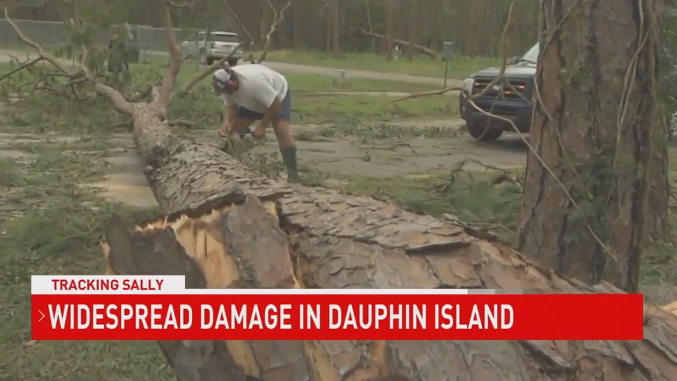 (WPMI) Widespread damage in Dauphin Island after Hurricane Sally