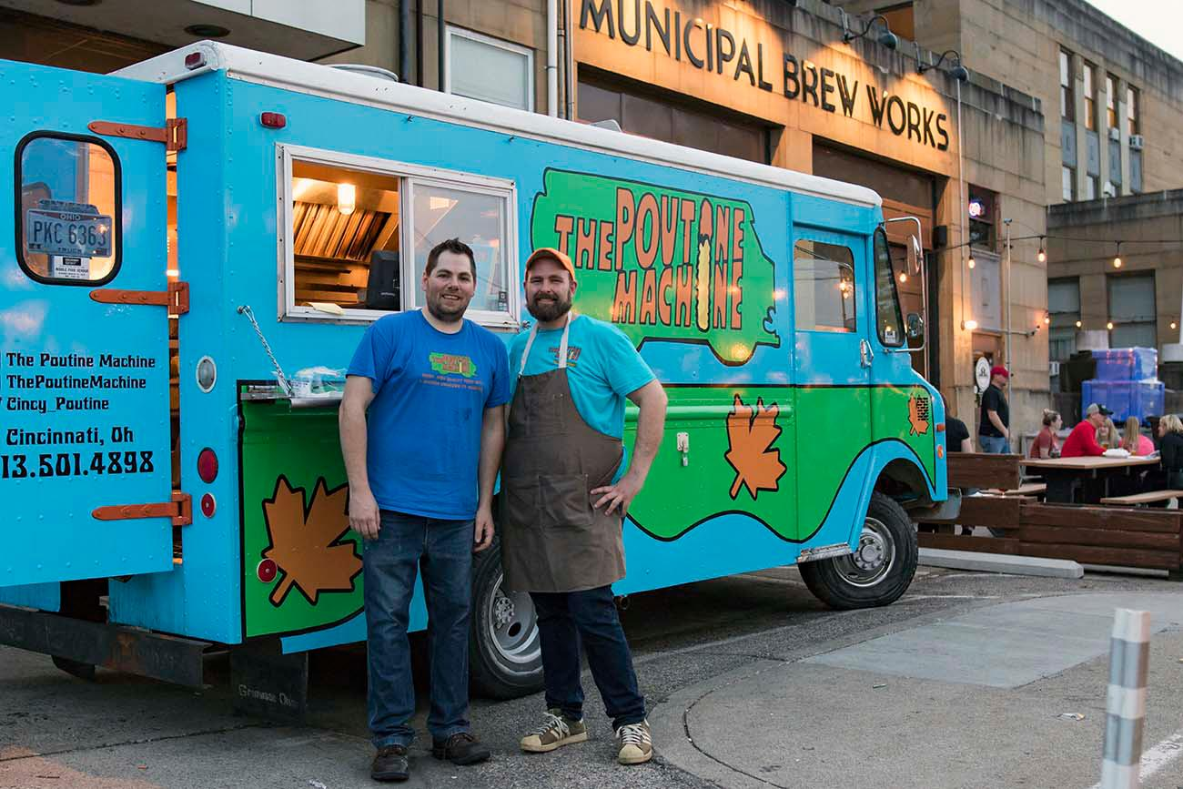 <p>Jordan McFarland (manager) and Ben McCoy (owner) are cousins who run The Poutine Machine / Image: Allison McAdams{&nbsp;}// Published: 5.11.19</p>