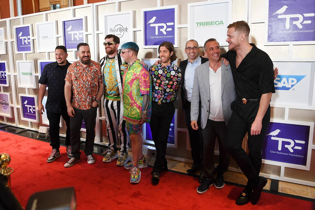 Imagine Dragons and The Tenderloins appear on the red carpet for the Rise Up Gala, and event created to raise funds for the Tyler Robinson Foundation, Friday, September 6, 2019, at the Wynn. (Sam Morris/Las Vegas News Bureau)