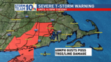 Severe Thunderstorm warning issued for all of Rhode Island