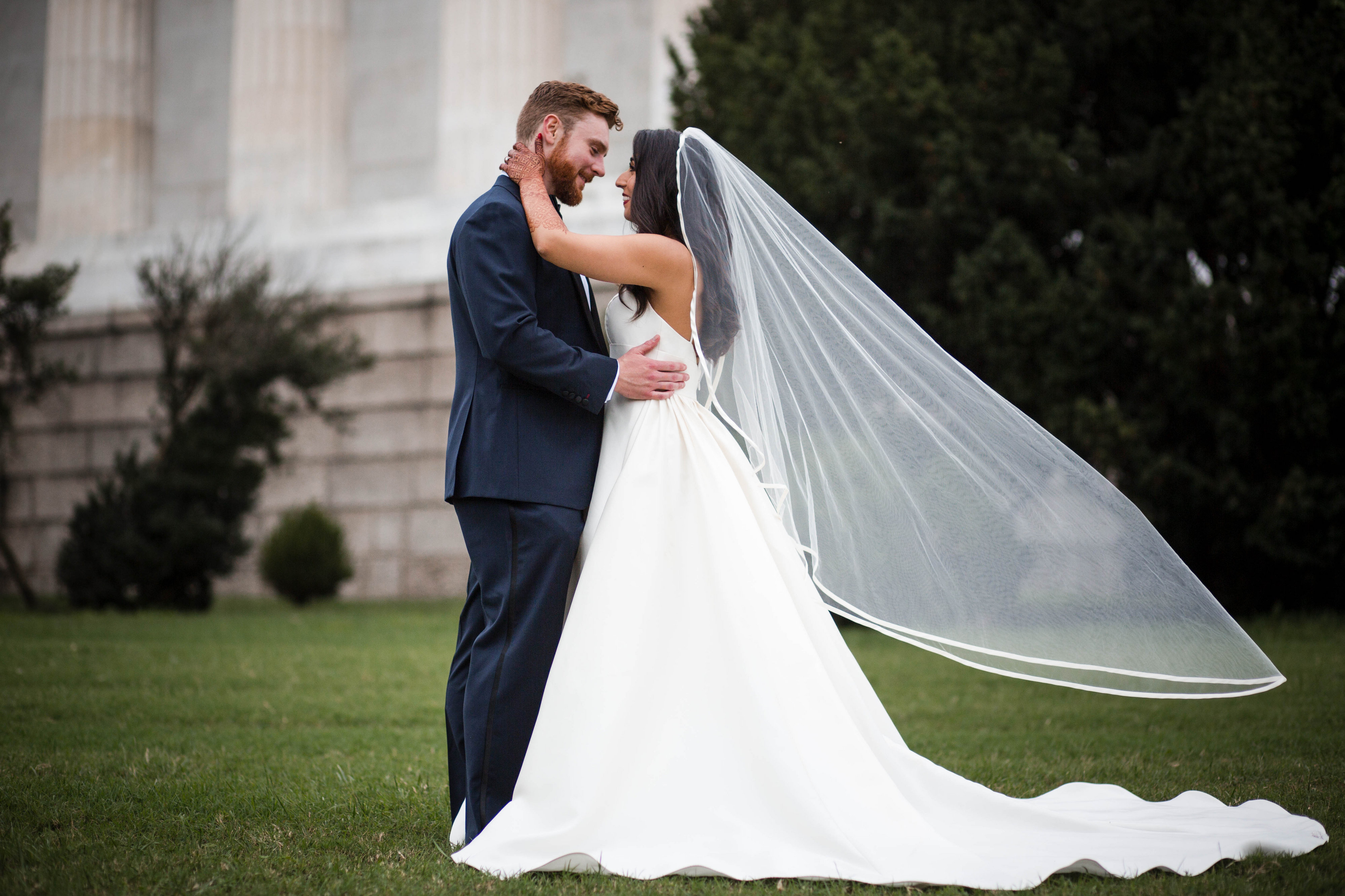 "They were married on October 6, 2018 in a ""fusion wedding."" (Image: Laura Bryan Photography){ }"