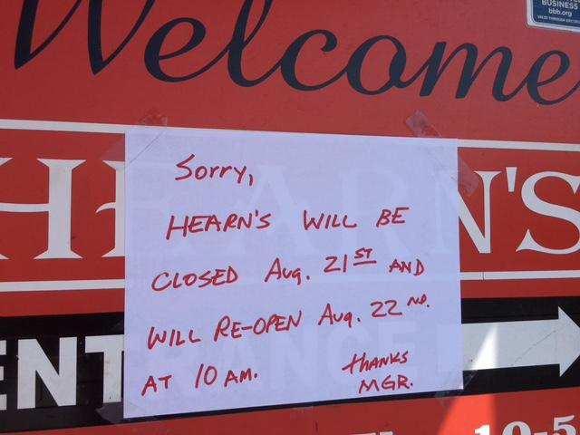 Hearn's Bike Shop closed on August 21, 2017, so employees could enjoy the solar eclipse. (Photo credit: WLOS Staff)