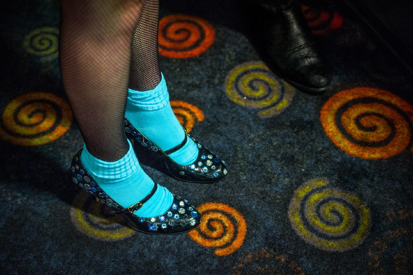The dazzling shoes of Columbia (a RHPS character), played by Savannah Baker / Image: Melissa Doss Sliney