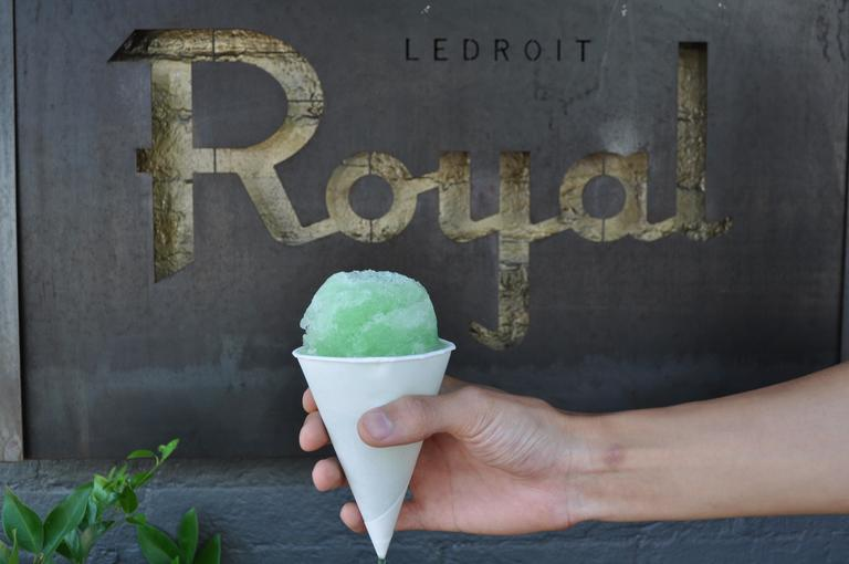 This shape-shifting coffee shop, bar, and restaurant serves a variety of worldly snow cones, which are basically the everyman's granita ($6). Current flavors include Puebla with tequila, grape, and mezcal; Louisville with bourbon, mint, and orange cordial; and Bogota with dark rum, cold brew, and vanilla. (Image: Courtesy The Royal)