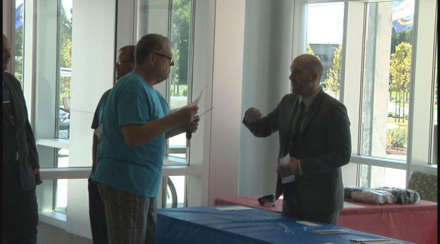 The Eugene VA clinic held a job fair Thursday. They're trying to fill 40 new positions. (SBG photo)
