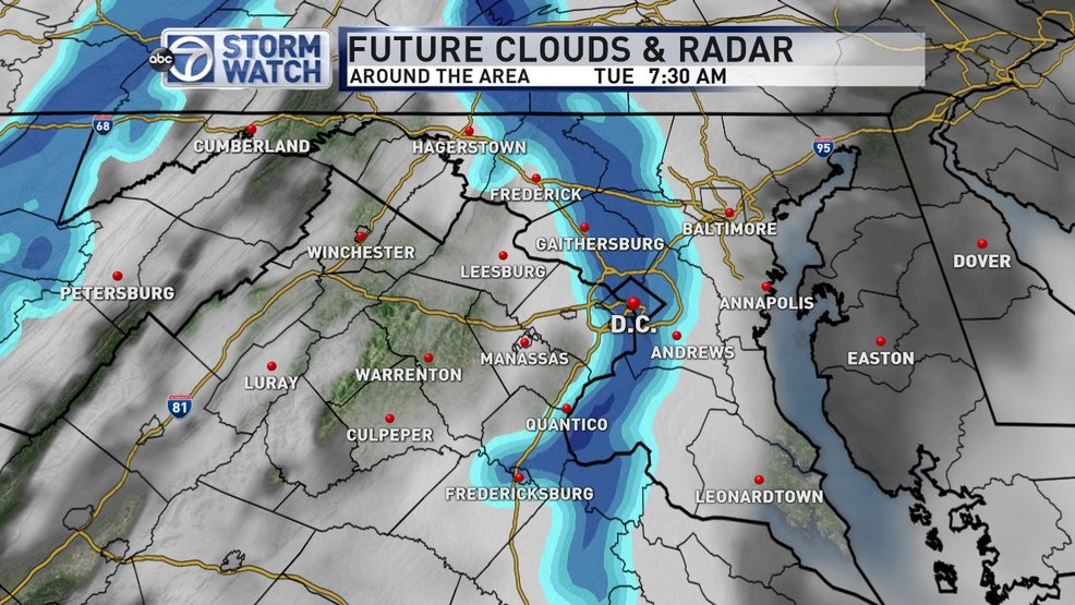 Light snow possible for the Tuesday morning commute