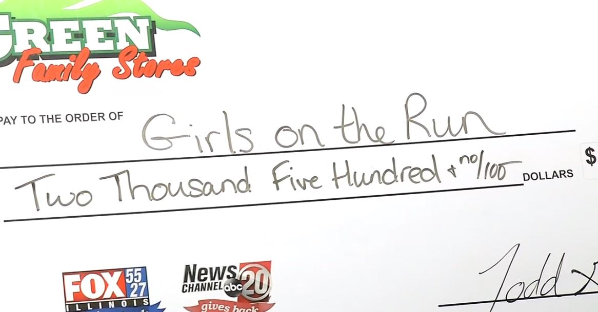 In August, we raised $2,500 towards Girls on the Run. (WICS)