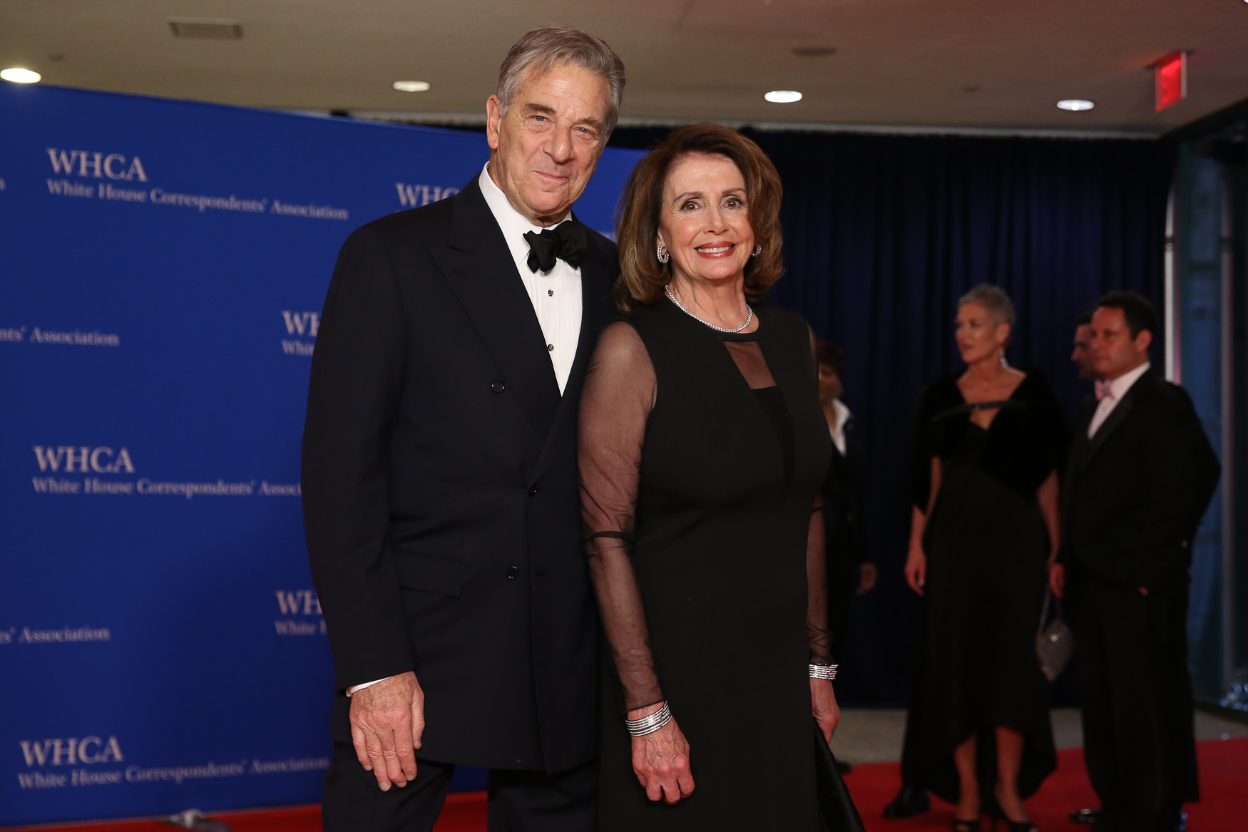 Rep. Nancy Pelosi and her husband Paul.{ }(Amanda Andrade-Rhoades/DC Refined)