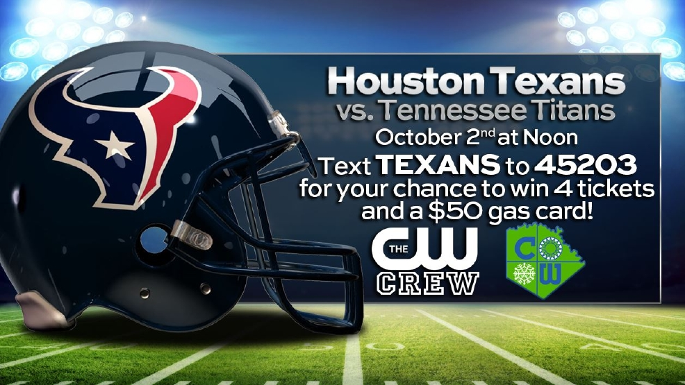 Win tickets to see the Houston Texans play!