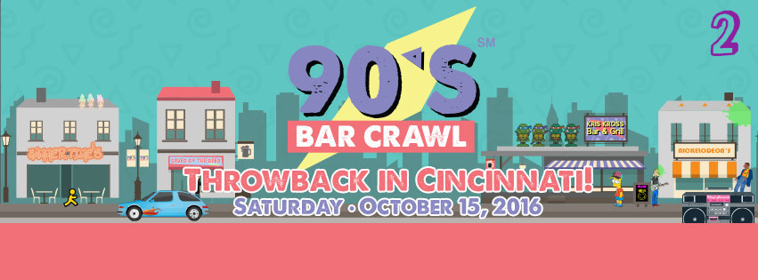 #2 - The only thing millennials love more than exposed brick is nostalgia. Enter, the '90s Pub Crawl, which is taking place this Saturday (Oct. 15).