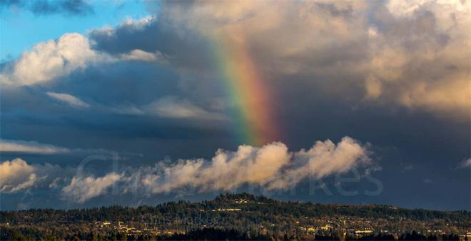 Rainbow over Portland -- (Photo: YouNews contributor: Markesc)