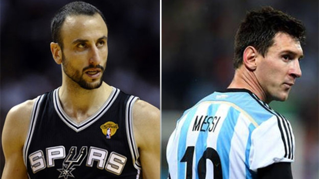 Soccer great Lionel Messi pushing for Manu Ginobili to make All-Star squad