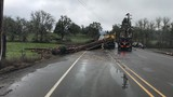 Log truck rollover in Douglas County closes road near Winston